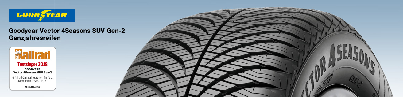 Testsieger Goodyear Vector 4Seasons SUV